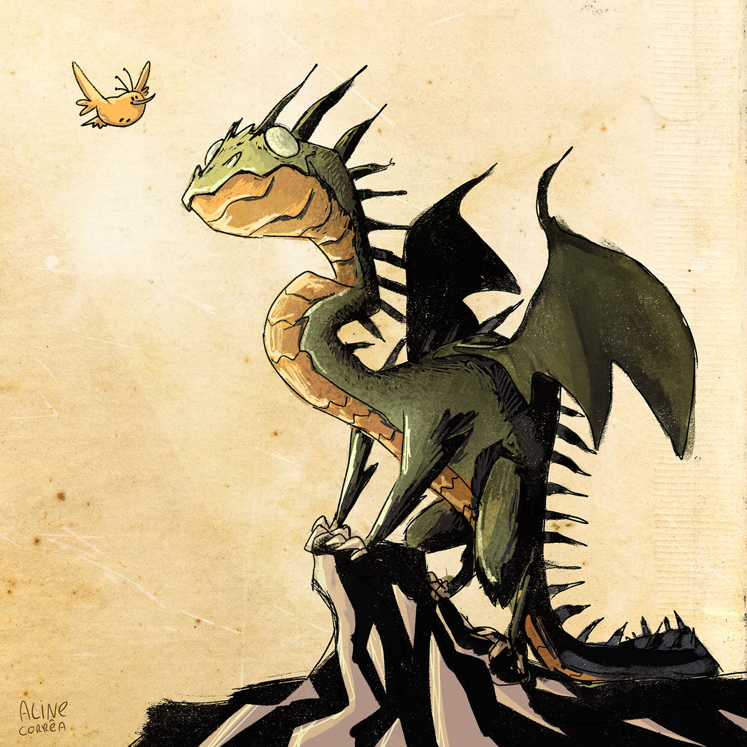 Dragon and Little Yellow Bird