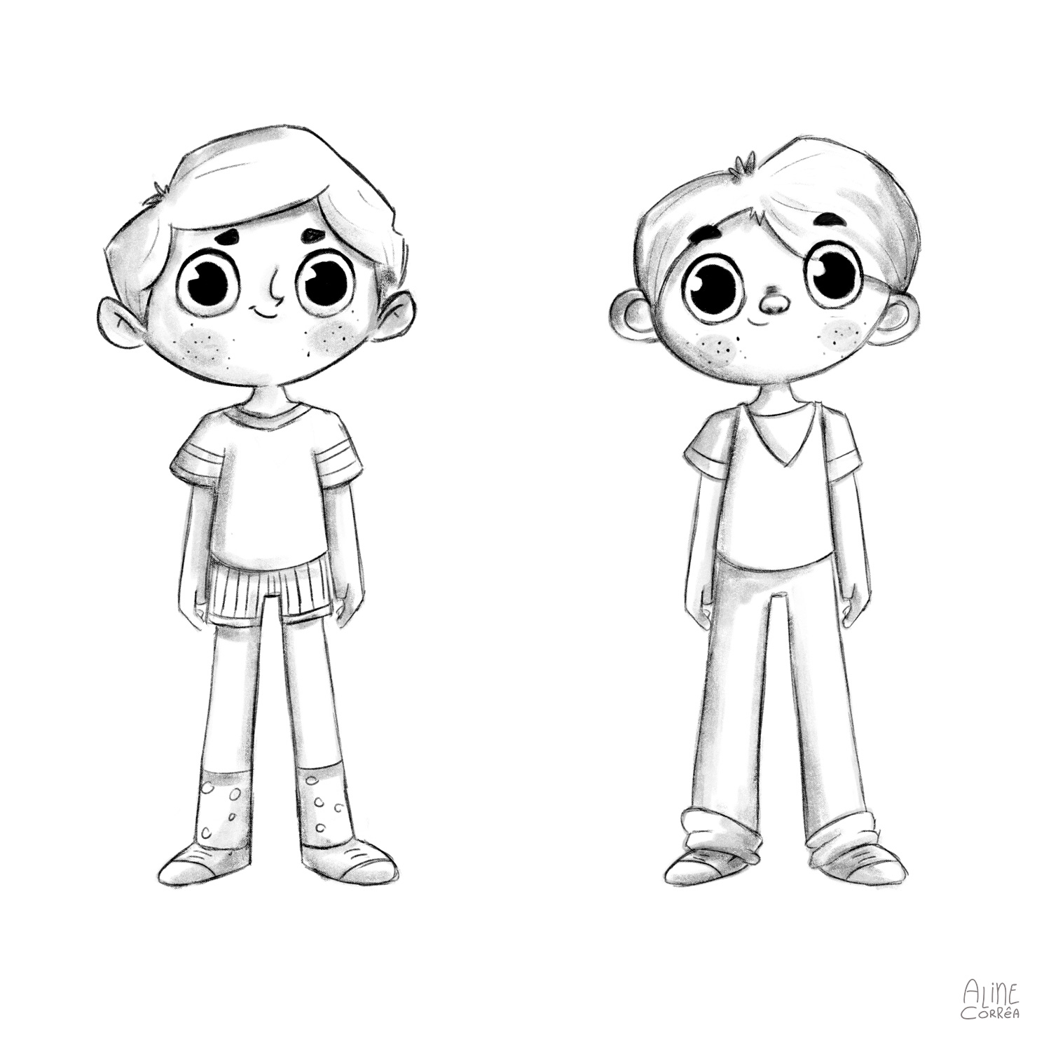 Boy Character Study for a Collaborative Children's Book Project 2
